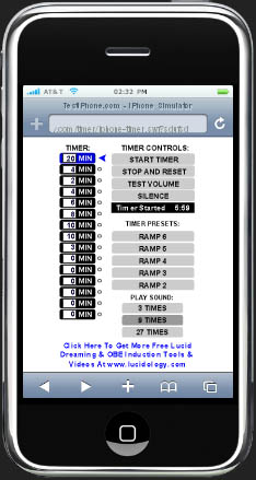 Free iPhone Lucid Dream Timer For Out Of Body Experiences And Astral